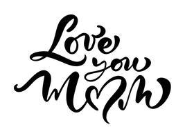 """Cartão de vetor """"te amo mãe"""""""
