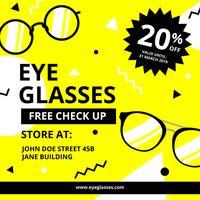 Modelo de promoção digital de óculos olho vetor