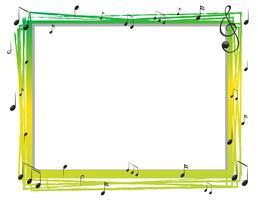 Modelo de fronteira com musicnotes vetor