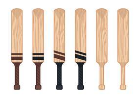Bastão de cricket vetor