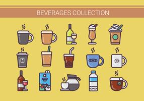 Coleção de ilustrações de bebidas vetor