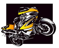 Moto esporte vetor