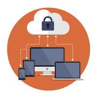 Segurança da Internet vetor