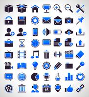 Conjunto de vetores de 56 ícones universais simples