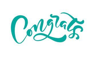 """Caligrafia de mão desenhada letras texto """"Parabéns"""""""