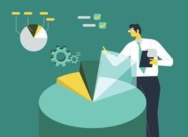vetor de ilustração de conceito de análise de dados