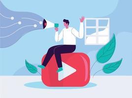 vetor de conceito de ilustração de marketing de vídeo