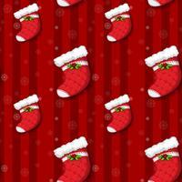 Um design sem costura com meias de Natal vetor