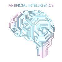 Ilustração do conceito de inteligência artificial. vetor