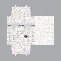 Modelo de design de embalagem de caixa vetor