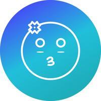 Menina, emoji, vetorial, ícone vetor