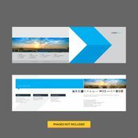 Modelo de Design criativo Flyer corporativo vetor