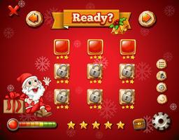 Tema de Natal no jogo de computador vetor