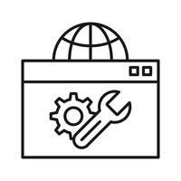 Otimização da Web Ícones de linha de SEO