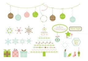 Pacote de vetores de elementos de design do Natal