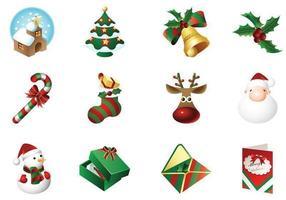 Pacote de vetores de ícones do tempo de natal