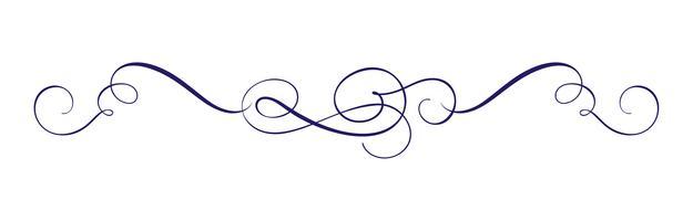 Vector mão desenhada caligráfica Primavera florescer elementos de Design. Decoração de estilo de luz floral para web, casamento e impressão. Isolado no fundo branco caligrafia e lettering ilustração
