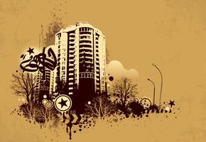 Fundo urbano grunge vetor