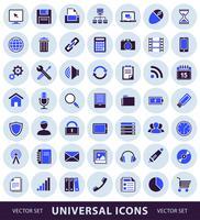 ícones universais simples de computador vetor