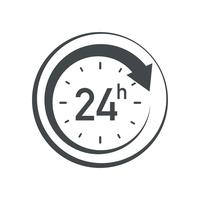 Ícone 24h vetor