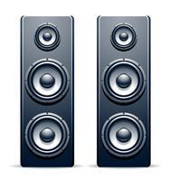 Dois alto-falantes de áudio vetor