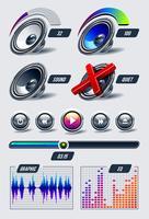 Vector conjunto de elementos musicais