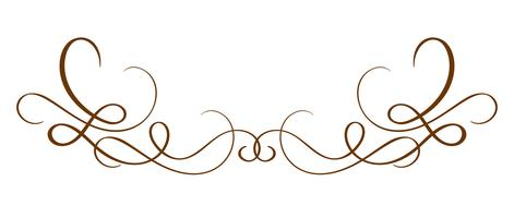 Separador caligráfico tirado mão do vetor. Elemento de Design de florescer primavera. Decoração de estilo de luz floral para cartão, web, casamento e impressão. Isolado no fundo branco caligrafia e lettering ilustração vetor