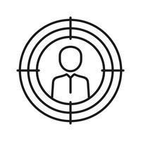 ícone de linha de marketing de destino