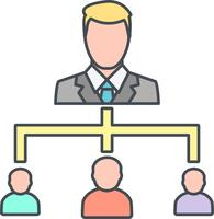 Ícone de vetor de organização