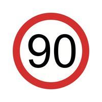 Limite de velocidade do vetor 90 ícone