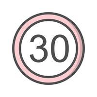 Limite de velocidade de vetor 30 ícone