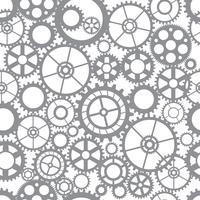 Engrenagens de corte de silhueta padrão vetor
