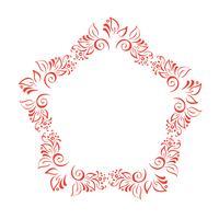 Grinalda floral tirada mão dos elementos do projeto do outono isolada no fundo branco para o flourish retro do projeto. Caligrafia de vetor e rolagem de ilustração de letras