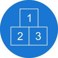 Ícone do vetor de 123 cubos