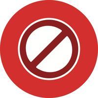 Ícone de vetor proibido