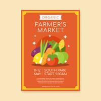 Vetor de modelo de cartaz de mercado de famers