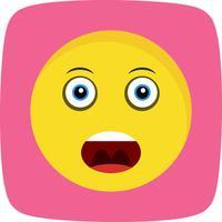 Gritando ícone Vector Emoji