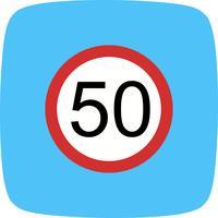 Limite de velocidade de vetor 50 ícone