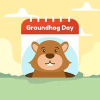 Vetor de dia da marmota