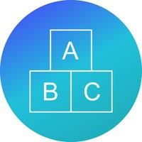 Ícone de vetor de cubos ABC