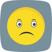 Ícone de vetor triste Emoji