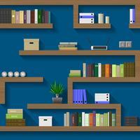 O labirinto de estantes vetor