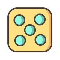 Dados Cinco Vector Icon