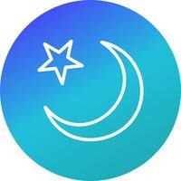 Ícone de vetor de lua crescente