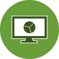 Ícone de vetor gráfico on-line
