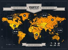 Mapa do mundo do vetor