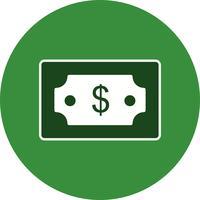 Ícone de vetor de dólar