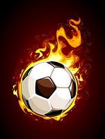 Bola de futebol ardente vetor