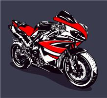 Moto esporte vermelho vetor