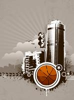 Fundo de basquete urbano de grunge